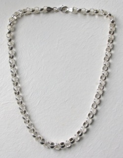 Silver Belcher Necklace - Boothandbooth.co.uk