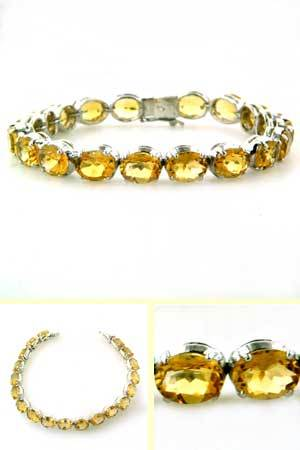 Citrine and Sterling Silver Bracelet Elma