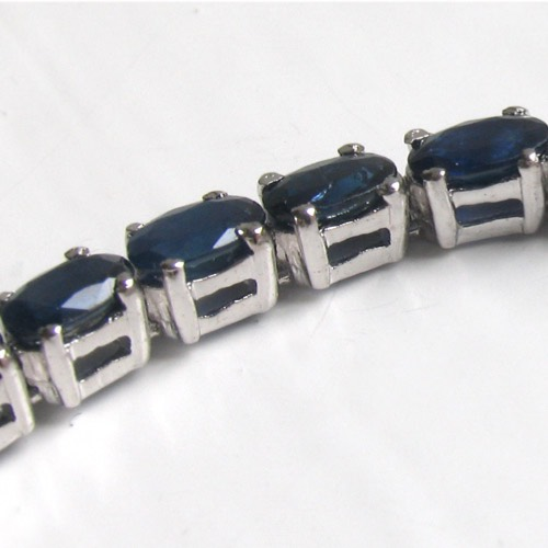 Sapphire and Sterling Silver Bracelet Berger
