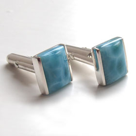Larimar Cufflinks Wordsworth
