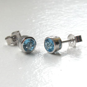 Swiss Blue Topaz Stud Earrings Georgie