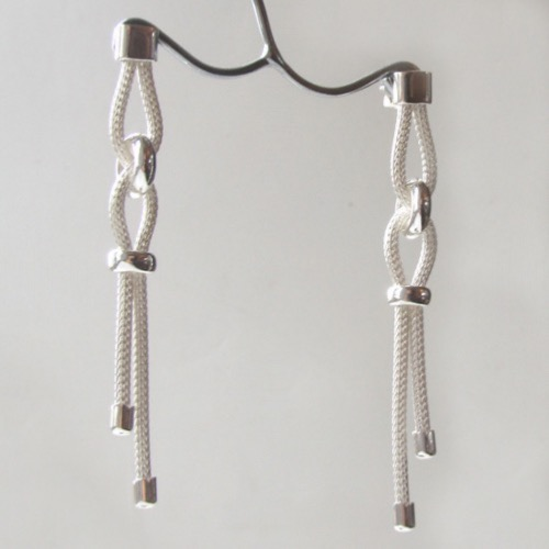 Sterling Silver Mesh Earrings Robyn