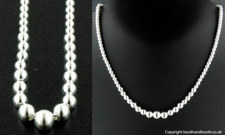 Sterling Silver Ball Necklace