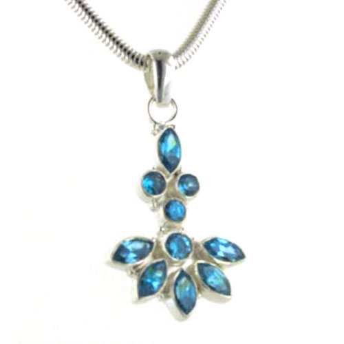 Swiss Blue Topaz Pendant Frances