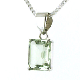 Green Amethyst Pendants - Booth and Booth