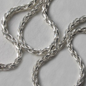 Sterling Silver Wheat Chain - 3.5mm