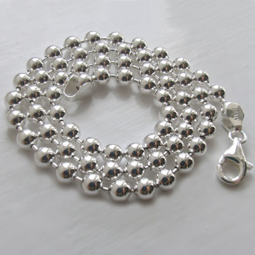 Sterling Silver Ball Chain, Width 5mm