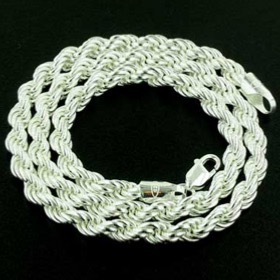 Sterling Silver Rope Chain - 6mm