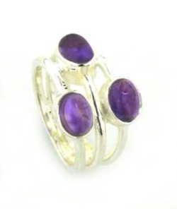 Amethyst Rings - Silver Gemstone Rings