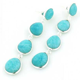 Amazonite Earrings Adrienne