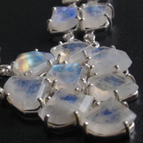 Moonstone Necklace - Rainbow Moonstone Necklace