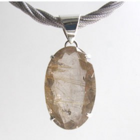 Golden Rutilated Quartz Pendant Mady