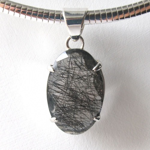 Black Rutilated Quartz Pendant Mady