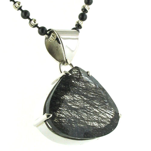 Black Rutilated Quartz Pendant Dawn