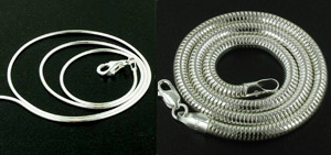Silver Snake Chains