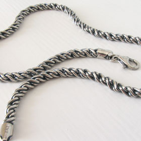 Sterling Silver Torcion Chain, Width 5.2mm