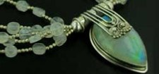 Rainbow Moonstone Necklaces