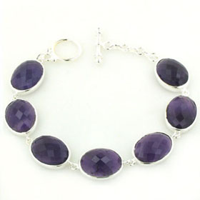 Amethyst Bracelet Nina set in Sterling Silver