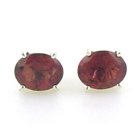 Tourmaline Pink Stud Earrings Clarissa