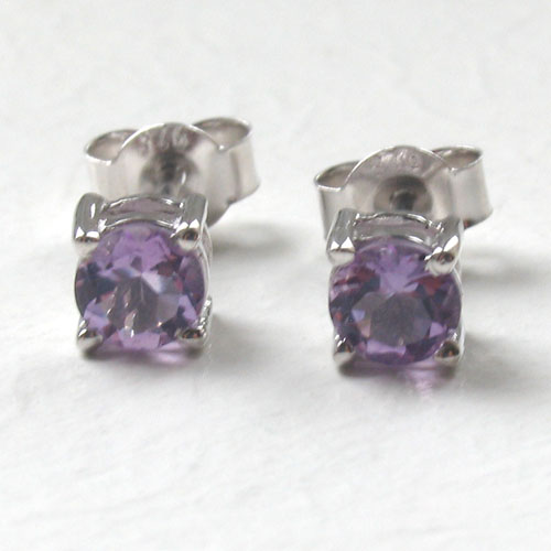 Amethyst Stud Earrings Sally
