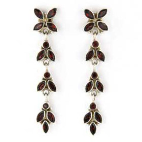 Garnet Earrings Zena