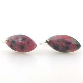 Rhodonite Drop Earrings Jerry