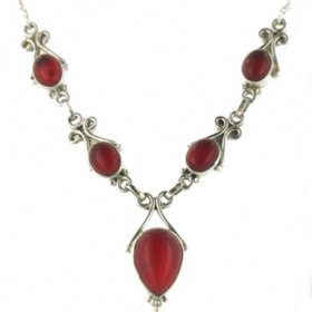 Red Onyx Necklace Lavinia
