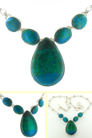 Chrysocolla Necklace Bella
