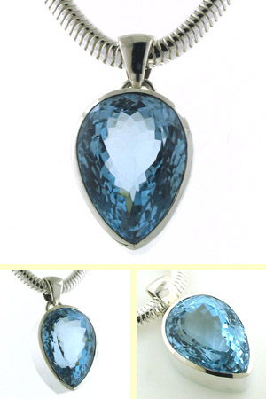 50 Carat Swiss Blue Topaz Pendant Hetty