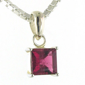 Tourmaline Pendant Clemmie in Sterling Silver