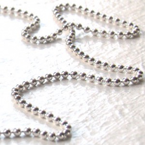 Silver Ball Chain - Gemstone Jewellery