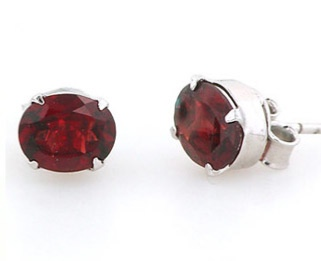 Garnet Earrings - Booth and Booth
