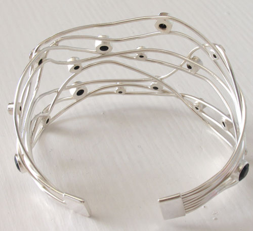 Sterling Silver Black Onyx Cuff Giselle