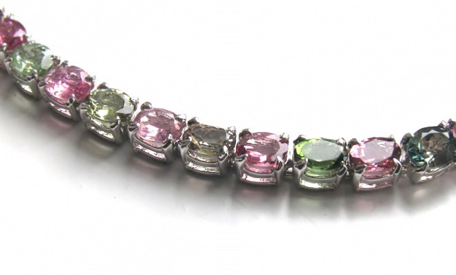 Pink and Green Tourmaline Bracelet Anita