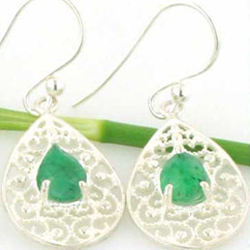 Emerald Earrings Rebecca