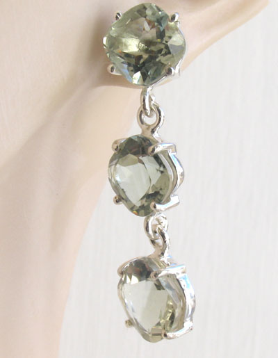 Green Amethyst Earrings Fenella