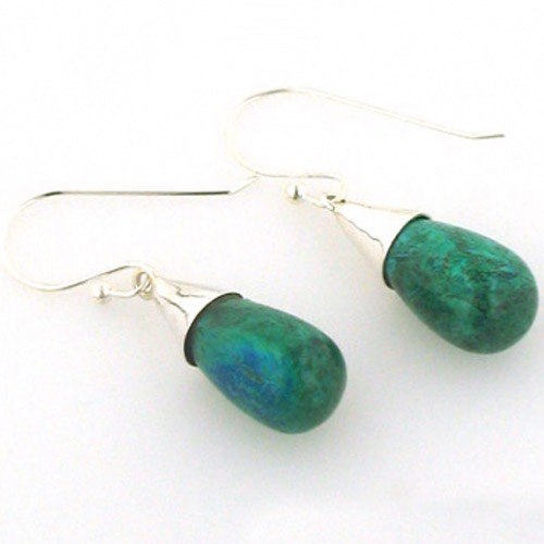 Chrysocolla Earrings Vita