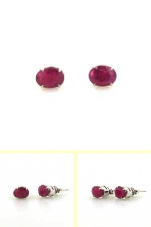 Ruby Stud Earrings Mayla