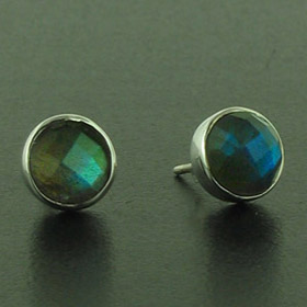 Faceted Labradorite Stud Earrings Carly