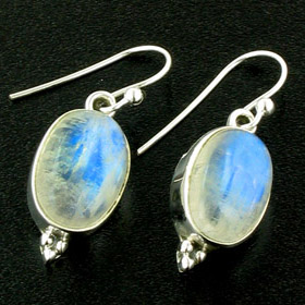Rainbow Moonstone Drop Earrings Simone