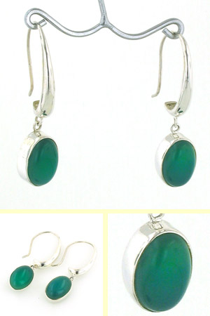 Green Onyx Earrings Serena