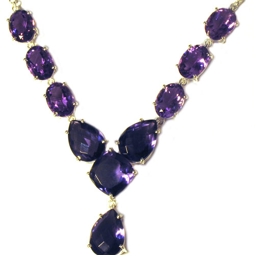 Amethyst Necklace Lettie