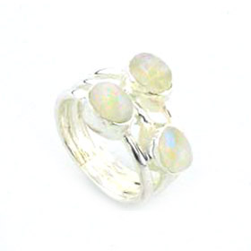 Rainbow Moonstone Ring Magritte