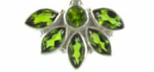 Peridot Pendants in Sterling Silver