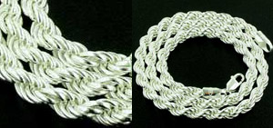 Silver Rope Chains