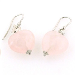 Rose Quartz Earrings - Boothandbooth.co.uk
