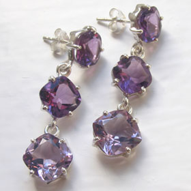 Amethyst Earrings Fenella