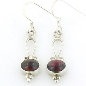 Garnet Earrings Sam