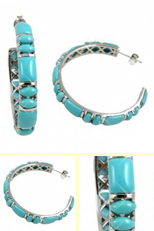 Turquoise Hoop Earrings Celestine