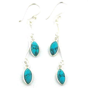 Turquoise Earrings Tess